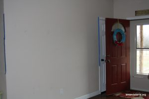 Entryway Wall Re-Do with Beadboard
