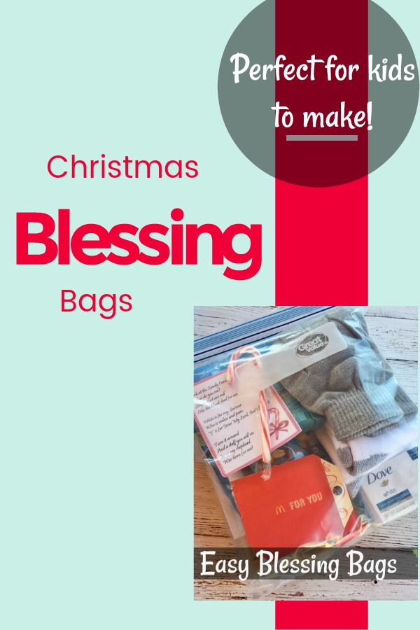 (AD) Easy Christmas Blessing Bags for kids to make!