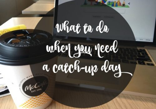 Sometimes you need a catch up day with coffee
