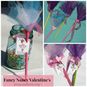 Fancy Nancy Valentine's (Free Printable)