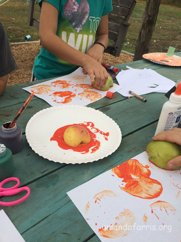 apple painting pumpkins