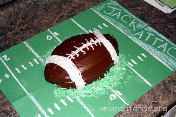 4th Birthday and a Football Cake