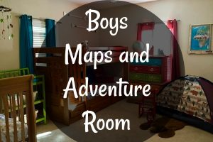 Maps and Adventure Room for little boys