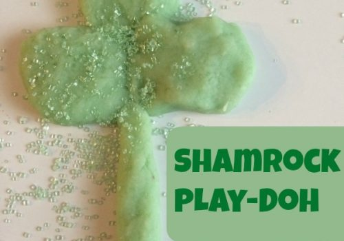 Shamrock Play-Doh and McDonald's Shamrock Shakes