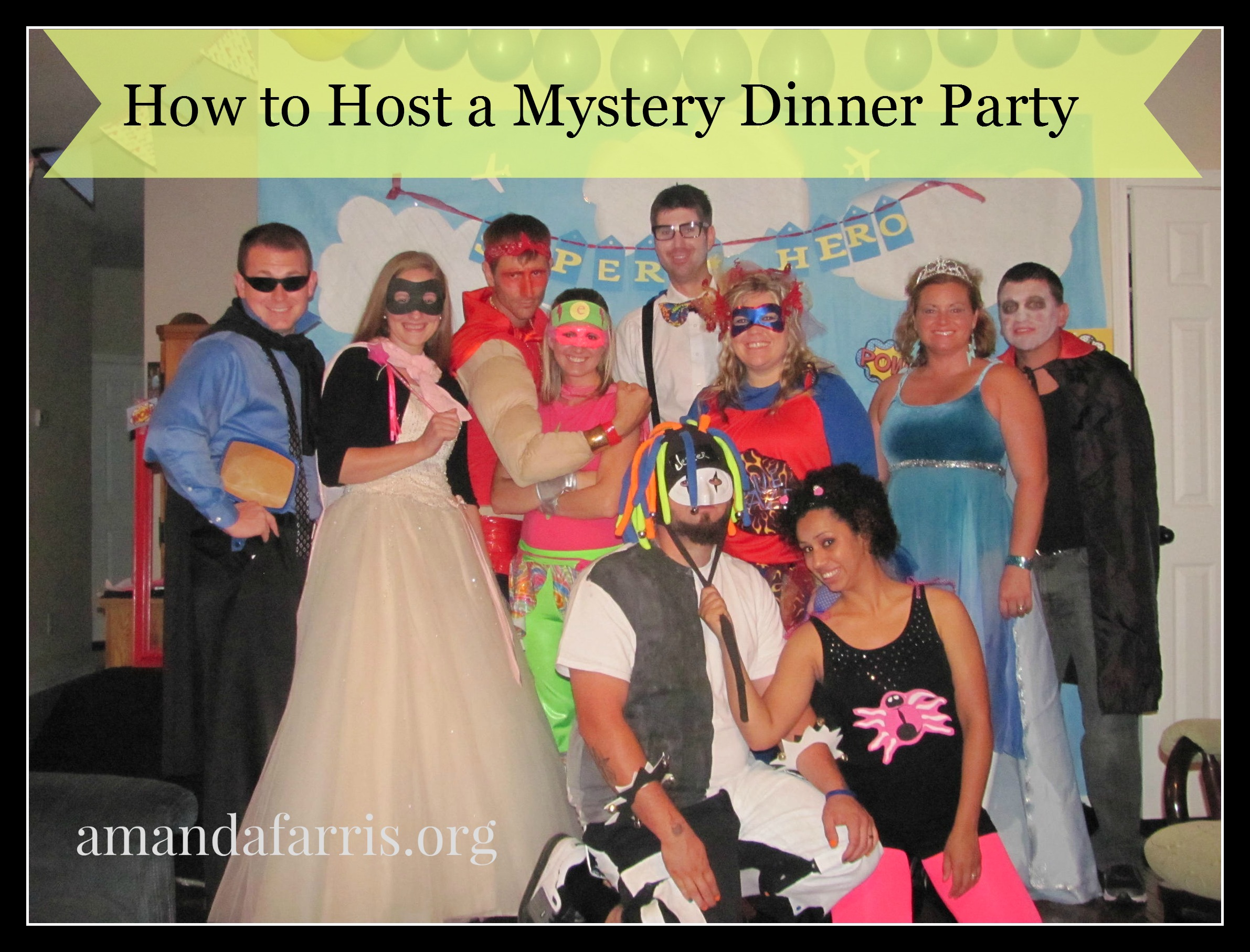 31 Days- How to host a Mystery Dinner Party